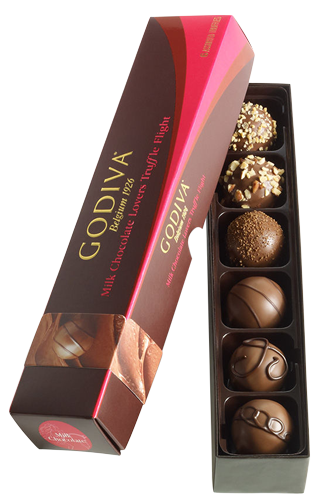 Godiva Milk Chocolate Truffle Flight 6pcs