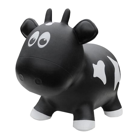 Farm Hopper Animal Bouncer Cow in Black